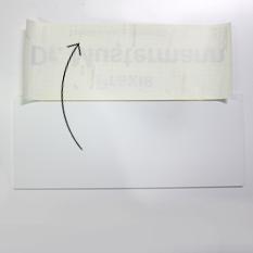 Montage Klebefolie Schritt 4: Folie umklappen