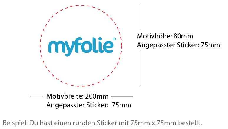 Beispiel 75x75mm Sticker rund