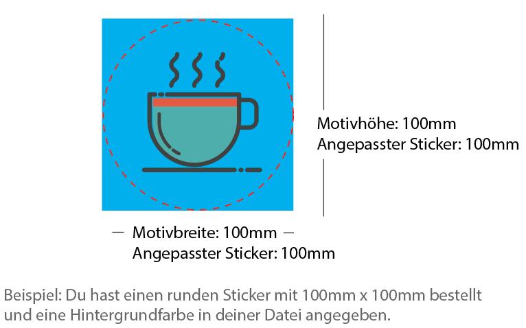 Beispiel 100x100mm Sticker rund